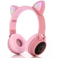 HT-028 Mikrofonlu Bluetooth LED Işıklı Kedi Kulaklık