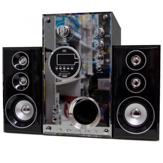 H9100T 2.1 Bluetooth Multimedya Hoparlör Ahşap Dekoratif Radyo