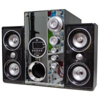 HB1200T 2.1 Bluetooth Multimedya Hoparlör Ahşap Dekoratif Radyo