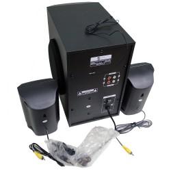 HT-55 2.1 Bluetooth Multimedya Hoparlör Ahşap Radyo