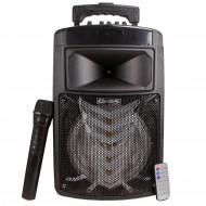 HT-56 Bluetoothlu Taşınabilir Radyolu Led Karaoke Müzik Sistemi
