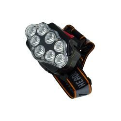 HT-134 8 LEDli Su Geçirmez Kafa Lambası Şarjlı Beyaz Işık