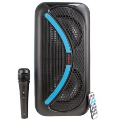 HT-86 Bluetoothlu Taşınabilir Radyolu Led Karaoke Müzik Sistemi