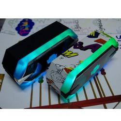 HT-96 RGB Işıklı TWS Bluetooth Hoparlör Radyolu Bataryalı 17 Cm