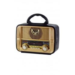 Kemai MD-1905BT Şarjlı Nostaljik Bluetooth Hoparlör Fm Radyo