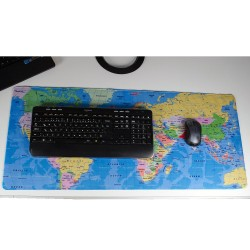 HT-113 Dünya Haritalı Mousepad 90x40 Büyük Boy