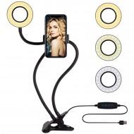 HT-118 Canlı Yayın Tik Tok Youtube Selfie Ring Light Telefon Standı