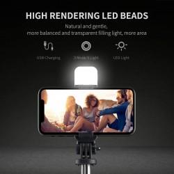 HT-121 LED Işıklı Selfie Çubuğu ve Tripod Bir Arada