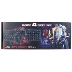H20 Gaming 4 Parça Oyuncu Seti Klavye Mouse Kulaklık Mouse Pad