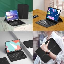 HT-130 iPad 9,7 İnç 2017 - 2018 Akıllı Kablosuz Klavyeli Kılıf