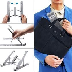 Katlanır Laptop Standı Kaymaz Taban Notebook Standı Kademeli Stand