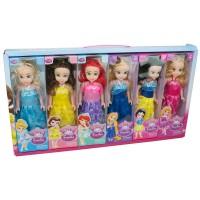 6lı Oyuncak Bebek Seti Pamuk Prenses Elsa Sindirella Kül Kedisi