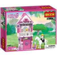 Cogo 167 Pcs Prenses Kalesi ve Beyaz Atlı Prens Lego Oyun Seti