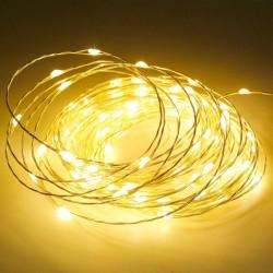 5 Metre Peri LED İnce Tel Pilli Dekoratif 50 Adet LED