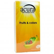 Acura Renkli Meyveler 12 li Prezervatif