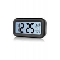 Akıllı Dijital Masa Saati Karanlık Sensörlü Fotoselli Alarm Termometre Takvim Saat