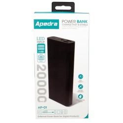Apedra AP-01 20000mAh Powerbank 2 USB Micro ve Type C Şarj Aleti