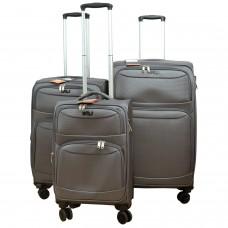 BGJ Kumaş Bavul Valiz Seti Seyahat Çantası Gri
