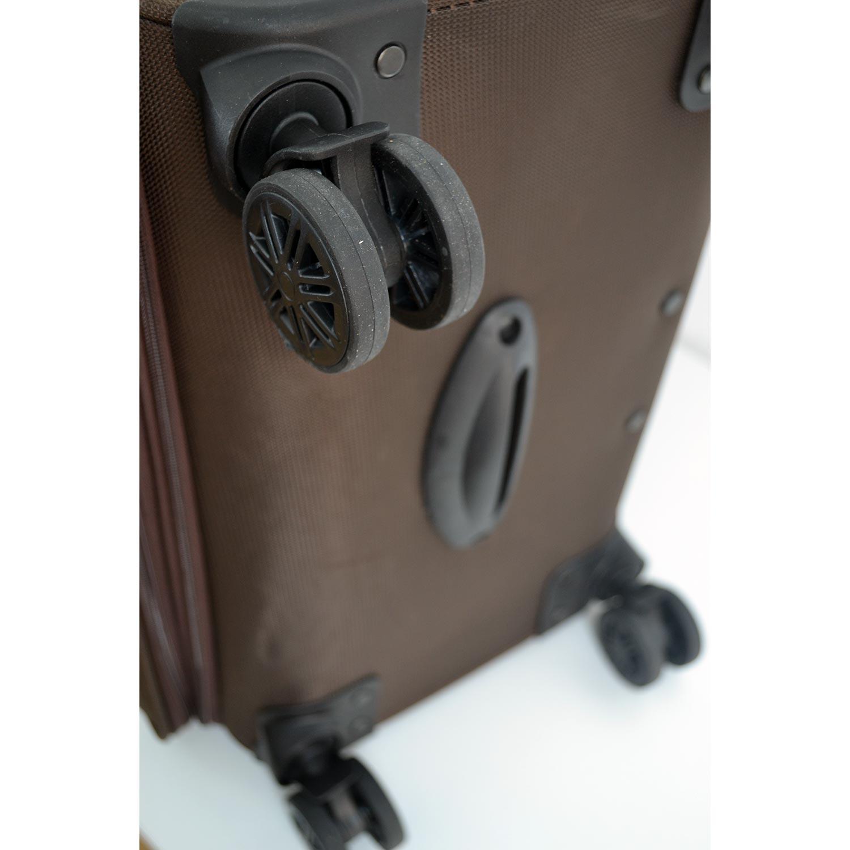 6c1d2929f30fe BGJ Kumaş Bavul Valiz Seti Seyahat Çantası Kahverengi