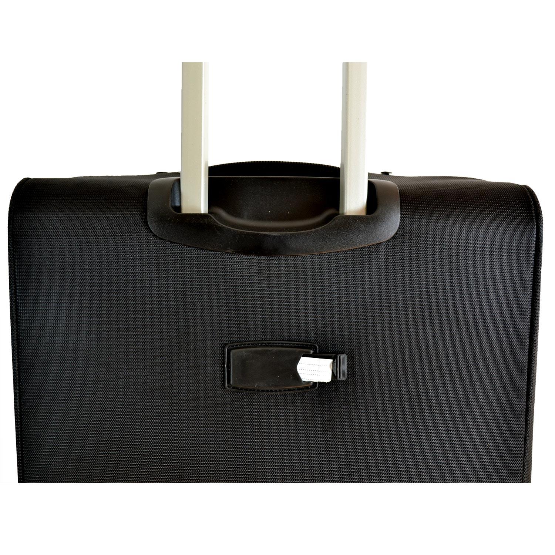102b6f4c3f6b0 BGJ Kumaş Bavul Valiz Seti Seyahat Çantası Siyah