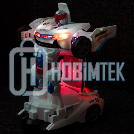 Dönüşen Robot Oyuncak Araba Sesli Işıklı 23 Cm
