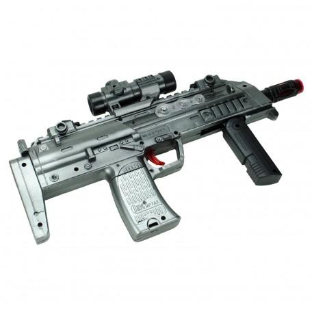 Battle Gun Oyuncak Pilli Işıklı Silah Taramalı 34cm