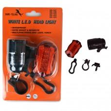 Bisiklet Farı Ön Arka LED Su Geçirmez sx-167