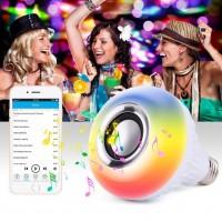 Bluetooth Hoparlör Akıllı LED Ampül Beyaz Lamba