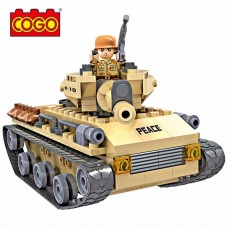 Cogo 192 Parça Asker Figürlü Savaş Tankı Lego Oyun Seti