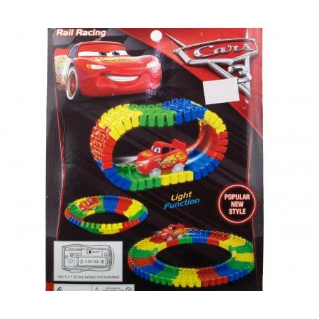 Cars Şimşek McQueen Işıklı Yapboz Yol Oyuncak Araba Seti