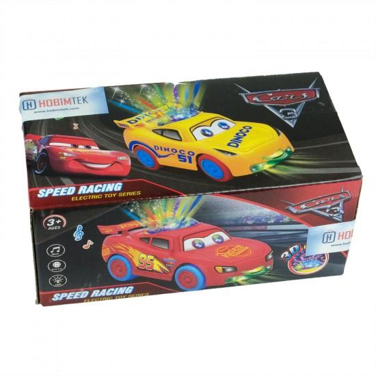 Cars Şimşek Mcqueen Disko Işıklı Hareketli Oyuncak Araba