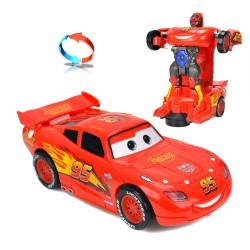 Cars Şimşek Mcqueen Kırılmaz Oyuncak Robot Dönüşen Araba