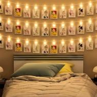 Dekoratif Led Işık 20 Mandallı Fotoğraf Işığı 3 Metre 3 Renk
