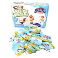 Eğitici Oyuncak Ahşap Hafıza Kartları Sporlar 48 Parça