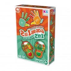 Eğitici Oyuncak Sol elim Sağ elim 2 si 1 arada Bağcıklarım