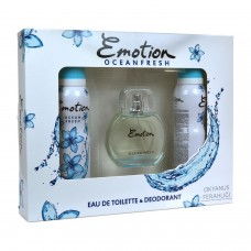 Emotion Ocean Fresh Bayan Parfüm Seti 50Ml Edt 2 Adet 150Ml Deo