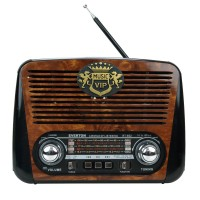 Everton RT-602 Nostaljik Radyo Retro Ahşap MP3 Çalar 21 Cm