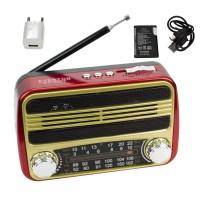 Everton VT-3077 Şarjlı Radyo Retro Ahşap MP3 Çalar 14 Cm