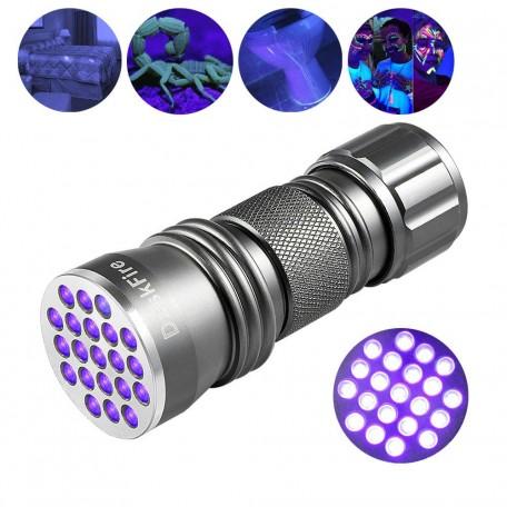 Guassi 21 LED UV Ultraviyole El Feneri Para Kimlik Hayvan Kontrol