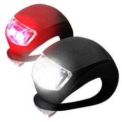 HF008-2 Mini LED Su Geçirmez Silikon Gövdeli Bisiklet Farı