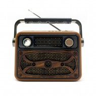 Meier M-183BT Vintage Bluetootlu Nostaljik Ahşap Radyo