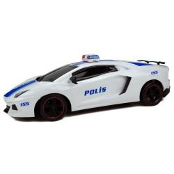 Hobimtek 1:12 Oyuncak Polis Arabası Sürtmeli 35 Cm Büyük Boy