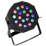 Hobimtek 18 LED Profesyonel Disko Flat Par Işık Sese Duyarlı