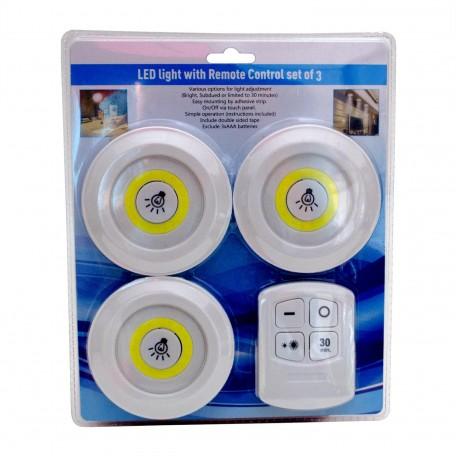 Hobimtek 3'lü Uzaktan Kumandalı LED Işık Seti