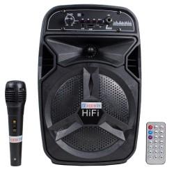 Hobimtek BT-06 Bluetoothlu Şarjlı Taşınabilir FM Radyolu Karaoke Müzik Sistemi