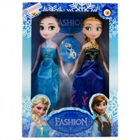 Hobimtek Frozen Elsa Fashion Elbiseli Oyuncak Bebek Seti 23 Cm
