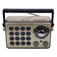 Hobimtek HD-1175BT Bataryalı Bluetooth Radyo Müzik Kutusu 23 Cm