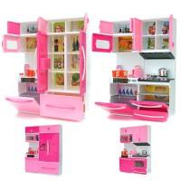 Hobimtek Oyuncak Buzdolaplı Mutfak Seti Işıklı ve Sesli