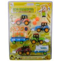 Hobimtek Oyuncak Çiftçi Traktör Kepçe Seti 12 Parça