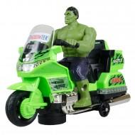 Hobtoys Motosikletli Hulk Oyuncak Işıklı Sesli Hareketli